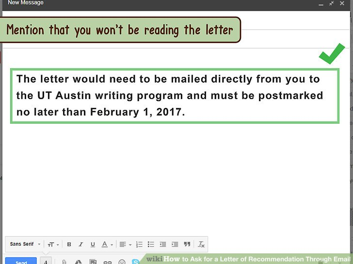 how to send application letter through email