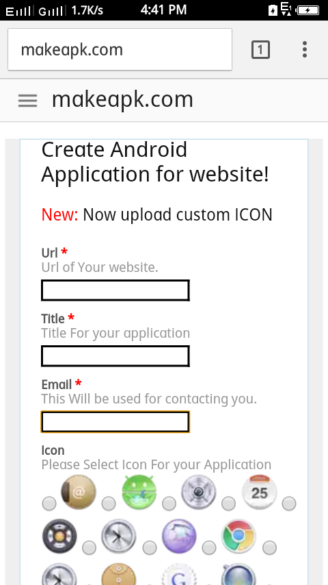 how to make application for android free