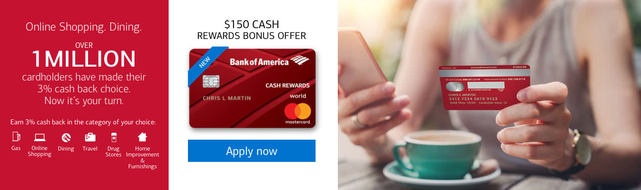 bank of america online credit card application