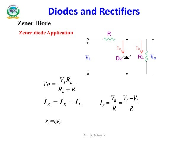 zener diode circuits and applications