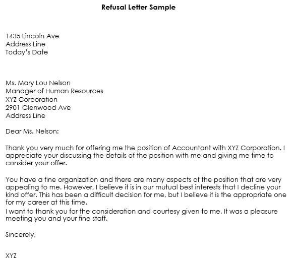 job application rejection email response