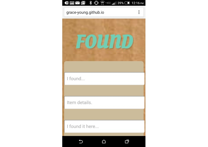 lost and found web application